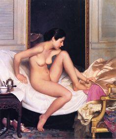 Nude in Interior , by William McGregor Paxton