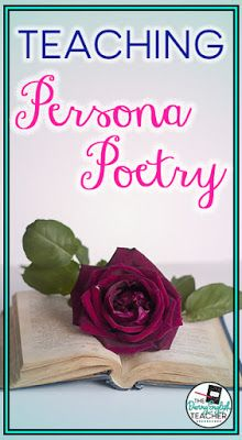 Teaching Persona Poetry in the Secondary ELA Classroom Teaching Poetry, Teaching Tips, Teaching Reading, Teaching Strategies, Poetry Activities, Academic Vocabulary, Poetry Unit, National Poetry Month, Writing Lessons