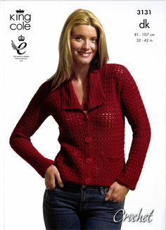Crochet Jacket and Top in King Cole Bamboo Cotton DK - 3131. Discover more Patterns by King Cole at LoveKnitting. The world's largest range of knitting supplies - we stock patterns, yarn, needles and books from all of your favorite brands.