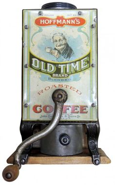 Coffee grinder, Hoffmann's Old Time Coffee, wall mount,