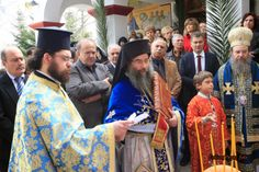 Ο Γιάννης Μίχος στην εορτή της Παναγίας του Ακαθίστου στην Αρναία.
