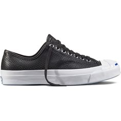 1c253c16db8aab Converse Jack Purcell Signature Perforated Leather – black Sneakers  featuring polyvore women s fashion shoes sneakers black leather sneakers  lightweight ...