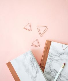 DIY Marble + Copper Stationery