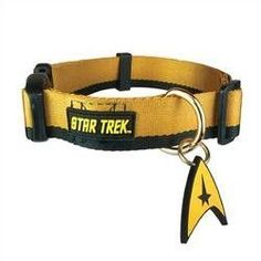 Star Trek Dog Collar Gold XL - Boldly go where no other dog has gone before