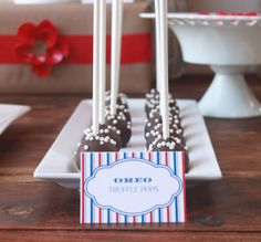 {Recipes} - Oreo Truffle Pops - Mirabelle Creations