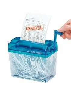 Manual Paper Shredder at http://www.AmeriMark.com.