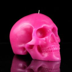 Mandible Skull Candle Pink, $47, now featured on Fab.