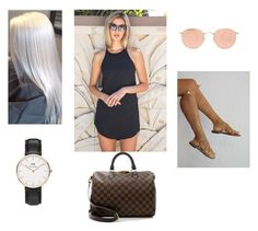 """""""Sunday market"""" by allgoodbabybaby on Polyvore featuring Ray-Ban, Daniel Wellington and Louis Vuitton"""