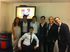 This is an awesome photo! Maya Rudolph, John Stamos, The Lonely Island (Andy Sandberg, Akiva Schaffer, Jorma Taccone), Michael Bolton, Ed Helms! :D