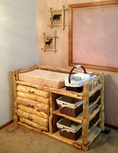 rustic log nursery WANT
