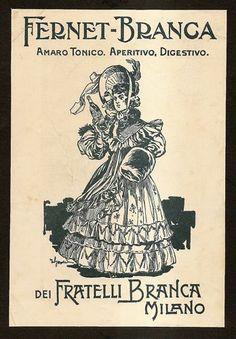Pubblicità Advert FERNET BRANCA Milano AmaroTonico 1911