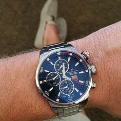 A great #wristshot submitted by #WatchTime follower @watchpics and his @mauricelacroix #pontos for #fcb #fcbarcelona ⚽ If you'd like us to repost your #wristshot, follow ⌚@watchtimemagazine⌚ and use the hashtag #WatchTime #watchfam #watchcommunity #wristporn #watchesofinstagram