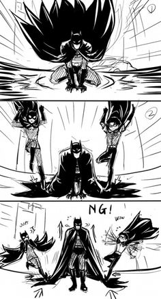 This is why you need to be far away from batman's cape when he lands.