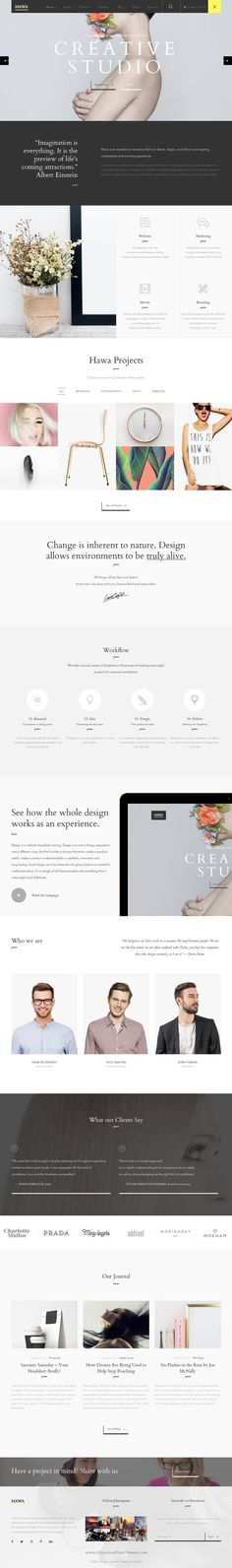 Hawa is Hot Creative responsive WordPress Theme for multipurpose #website. #creative #startup Download Now!
