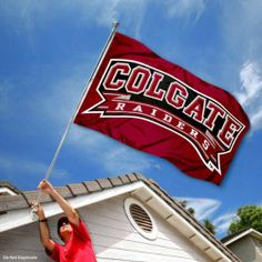 Colgate Raiders University Large College Flag by College Flags and Banners Co.. $29.95. The Colgate University Logos are viewable on Both Sides (Opposite side is a reverse image). Made of 100% Nylon with Quadruple-Stitched Flyends for Durability. Perfect for your Home Flagpole, Tailgating, or Wall Decoration. Officially Licensed and Approved by Colgate University. 3'x5' in Size with two Metal Grommets for attaching to your Flagpole. This Colgate University Flag measures 3x5 f...