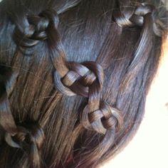 Celtic knot inspired hairstyle, for long hair. Celtic Hair, Viking Hair, Knot Braid, Plait, Cool Braids, Love Hair, Hair Art, Hair Designs, Her Hair