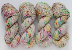 Stitch Mischief - Hand dyed yarn, project bags and all the colors! Hand Dyed Yarn, All The Colors, Rainbow, Stitch, Gray, Projects, Rain Bow, Log Projects, Rainbows