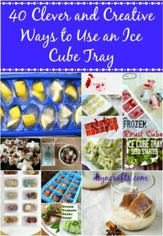 40 Clever and Creative Ways to Use an Ice Cube Tray  I love all of these and plan on doing at least half! Especially the detergent!