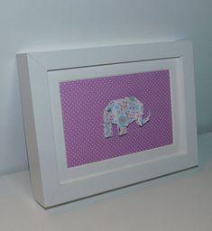 Framed origami Origami wall art origami elephant framed
