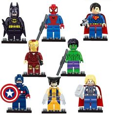 Super heroes The Avengers Figures Superman Batman Iron Man Hulk Wolverine Minifigures building blocks Compatible with lego toys (WITHOUT original boxes) Marvel Avengers, Ms Marvel, Marvel Thanos, Deadpool Iron Man, Iron Man Avengers, Marvel Infinity, Figurine Batman, Spiderman Action Figure, Marvel Heroes