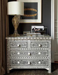 Black and white dresser!