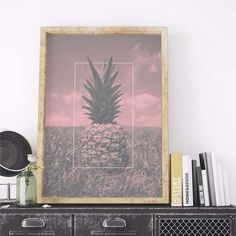 poster rose pineapple