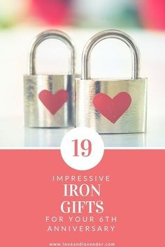 Looking for a 6th year anniversary gift? Weve rounded up 19 of the best iron anniversary gifts for him & her! #6thanniversary #sixthanniversary #anniversarygift #6thanniversarygift #6thanniversarygifts #6thanniversarygiftideas #6thanniversarygiftsforher #6thanniversarygiftsforhim