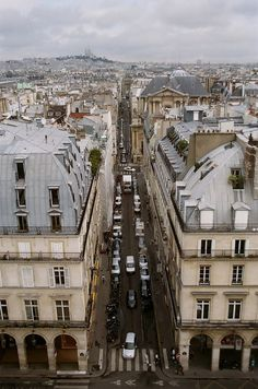 Paris - looking toward Montmartre