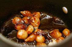 brown-braised baby onions