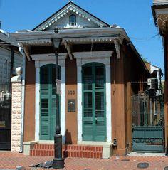 Shotgun House in the French Quarter.