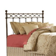 New! Argyle Iron Headboard - named for the diamond pattern wire design casted below the top rail.