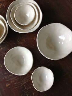 G. Vaudt Nesting Pinch Pots ...one day, I will learn how to make a ceramic bowl that is not hideous