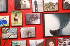 upcycle/recyle dvd cases to frames!  Great ideal ~ looks like photo's on canvas!