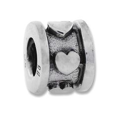 Valentines Gifts of Sterling Silver, this Band of Hearts charm bead is full of hearts to show love for that special person! Made of the finest quality .925 Sterling Silver.