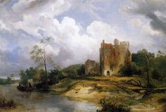 Wijnand_Nuijen_-_River_Landscape_with_Ruins_-_WGA16613.jpg (1257×850)