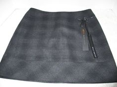 Womens Skirt WILLI SMITH Charcoal Gray Black Wool Blend Sz 4 New NWT Fall Cute #WilliSmith #fall #skirt #wool