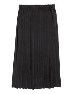 Check this out! Calf-length skirt in an airy weave with an elasticated waist and pleats. - Visit hm.com to see more.