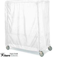 "Metro 21 x 48 x 62"" White Vinyl Cart Cover w/ Zipper by Metro. $176.51. Length: 48"". White Waterproof Vinyl-Nylon. Height: 62"". Weight: 7 lbs. Depth: 21"". Metro 21 x 48 x 62"" White Vinyl Cart Cover w/ ZipperProtect products from dust and dirt with the Metro 21 x 48 x 62"" white waterproof vinyl cart cover that fits 21"" deep shelf trucks and carts.Depth: 21"" Length: 48"" Height: 62"" Weight: 7 lbs White Waterproof Vinyl-Nylon Zipper Closure Fits Shelf Trucks & Carts 21"" De..."