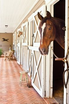 Stable | For Charleston, South Carolina, Designer Missi Ervin and homeowner Sam Cato, renovating a former horse stable and carriage house in Aiken meant returning the historic cottage to its equestrian roots.