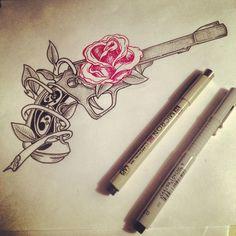 Tattoo gun rose