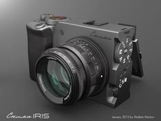 Vintage Cameras Snima Iris concept camera by Vladimir Markov - Old Cameras, Vintage Cameras, Camera Hacks, Camera Gear, Film Camera, Digital Camera Tips, Radios, Blog Fotografia, Classic Camera