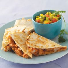 BBQ Chk Quesadillas.  My husband loves a good quesadilla.