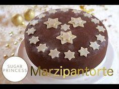 Festliche Marzipantorte mit Orange und Schokolade/Marzipan Cake with ora...