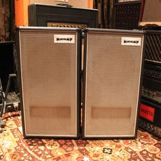 Vintage 1978 Matamp Pair 1 x 12 Amp Cabinet Column Amplifier w/ Covers #Matamp