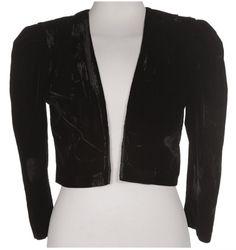 black velvet bolero