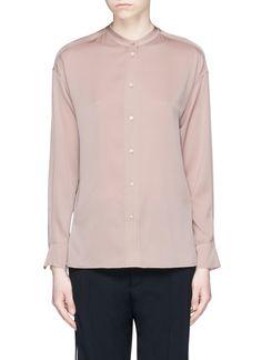 VINCE Stretch Satin Shirt. #vince #cloth #shirt