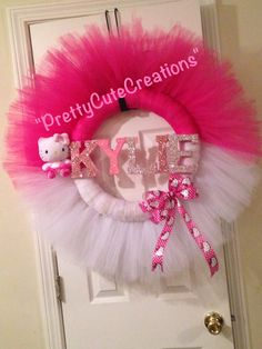 Hello Kitty Tulle Wreath