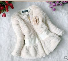 02d30a34e Shop online in India gorgeous posh off white colored winter jacket for  toddler girls and dress