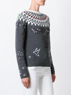 #ninaricci #women #sweater #grey #white #newin #style  www.jofre.eu