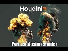 Houdini - Pyro Explosion Shader Tutorial - YouTube